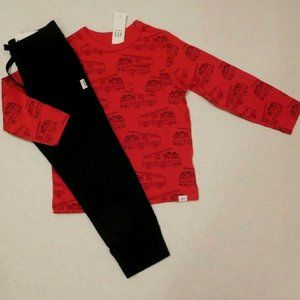 WT 2pc Gap Firetruck L/S Shirt & Navy Pants